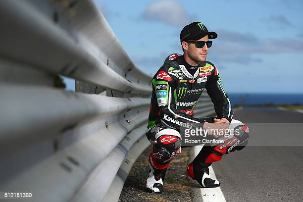 Jonathan Rea of Great Britain and rider of the Kawasaki Racing Team Kawasaki poses during previews for round one of the 2016 World Superbike...