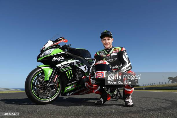 Jonathan Rea of Great Britain and rider of the Kawasaki Racing Team Kawasaki poses for a portrait ahead of round one of the FIM World Superbike...