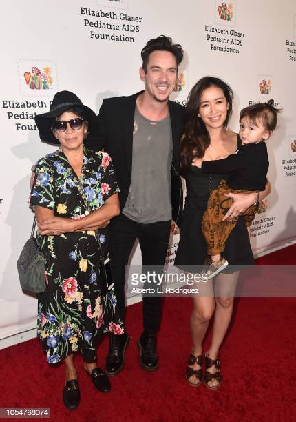 Jonathan Rhys Meyers and family attends the Elizabeth Glaser Pediatric Aids Foundation's 30th Anniversary A Time For Heroes Family Festival at...