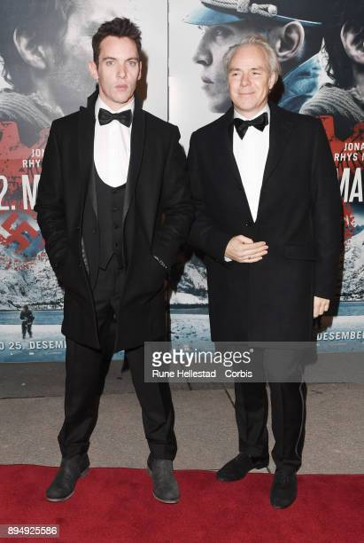 Jonathan Rhys Meyers and Harald Zwart attend the premiere of The 12th Man at Fredrikstad Cinema on December 18 2017 in Fredrikstad Norway