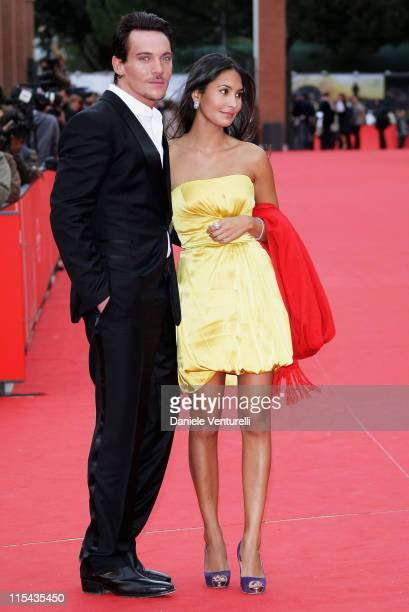 Jonathan Rhys Meyers and Reena Hammer attend the 'August Rush' premiere during Day 3 of the 2nd Rome Film Festival on October 20 2007 in Rome Italy