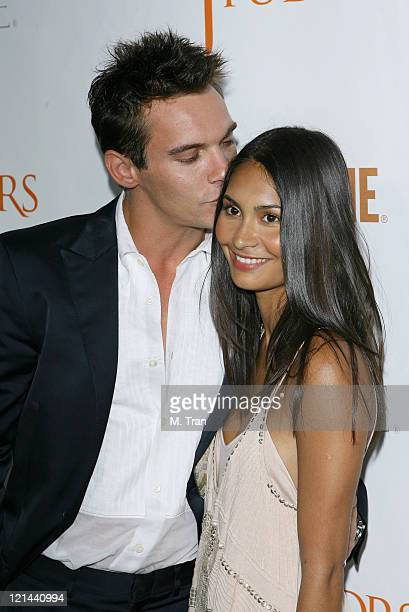 Jonathan Rhys Meyers and Reena Hammer during The Tudors Los Angeles Premiere Arrivals at Egyptian Theatre in Hollywood California United States