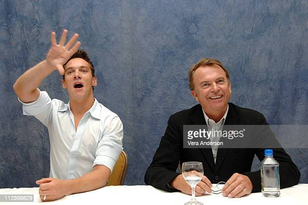 Jonathan Rhys Meyers and Sam Neill during 'The Tudors' Press Conference with Jonathan Rhys Meyers and Sam Neill at Four Seasons in Beverly Hills...