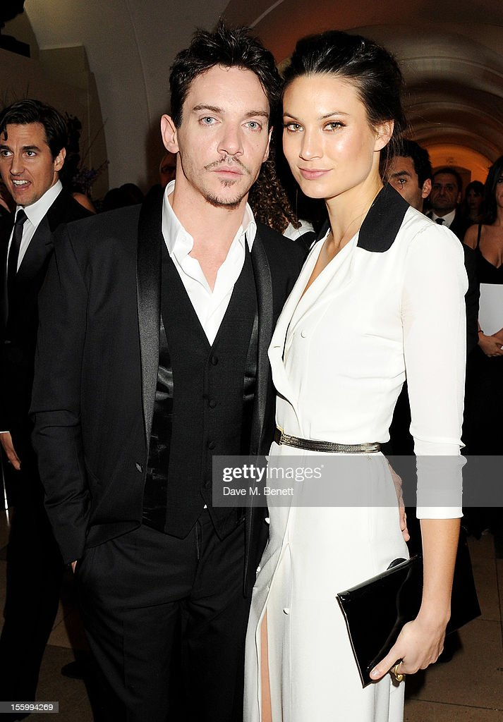 Jonathan Rhys Meyers (L) and Victoria Keon-Cohen attend the Place For Peace dinner co-hosted by Ella Krasner and Forest Whitaker to support the Peace Earth Foundation in association with Star Diamond at Banqueting House on November 10, 2012 in London, England.
