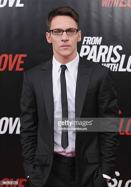 Jonathan Rhys Meyers attends the 'From Paris With Love' premiere at the Ziegfeld Theatre on January 28 2010 in New York City