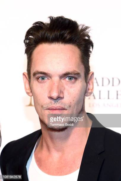 Jonathan Rhys Meyers attends the Grand Opening Maddox Gallery Los Angeles on October 11 2018 in West Hollywood California