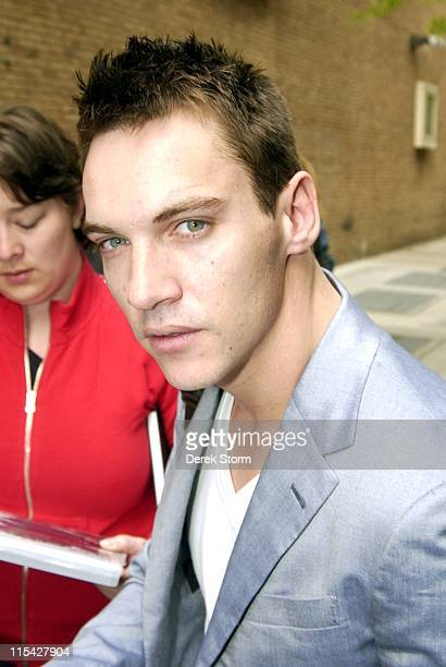 Jonathan Rhys Meyers during Jonathan Rhys Meyers and KT Tunstall Visit 'Live with Regis Kelly' May 2 2006 in New York City New York United States