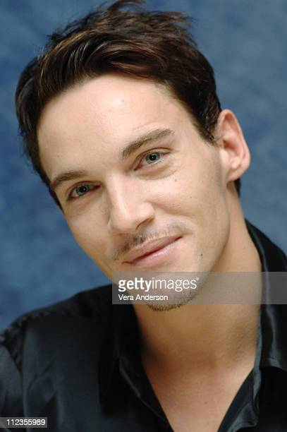 Jonathan Rhys Meyers during 'Match Point' Press Conference with Matthew Goode Emily Mortimer and Jonathan Rhys Myers at Waldorf Astoria Hotel in New...