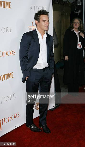 Jonathan Rhys Meyers during 'The Tudors' Los Angeles Premiere Arrivals at Egyptian Theatre in Hollywood California United States