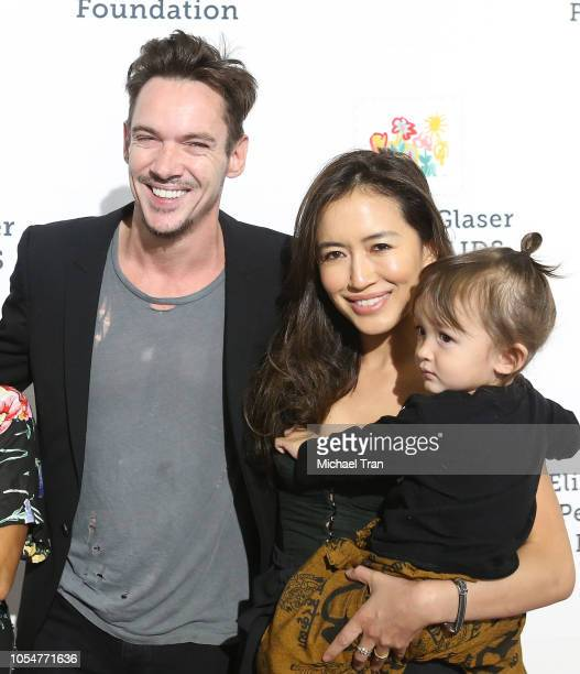 Jonathan Rhys Meyers with wife Mara Lane and son Wolf Rhys Meyers attend the Elizabeth Glaser Pediatric Aids Foundation's 30th Anniversary A Time for...