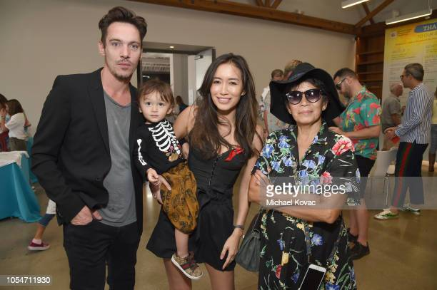 Jonathan Rhys Meyers Wolf Rhys Meyers and Mara Lane attend The Elizabeth Glaser Pediatric AIDS Foundation's Annual 'A Time For Heroes' Family...