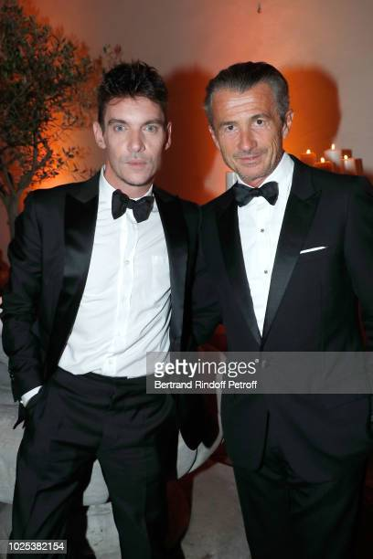 Jonathan RhysMeyers and Francois Sarkozy attend the Celebrazione Party By Chopard and Generali To Honor The 75th Venice Film Festival at Palazzo...