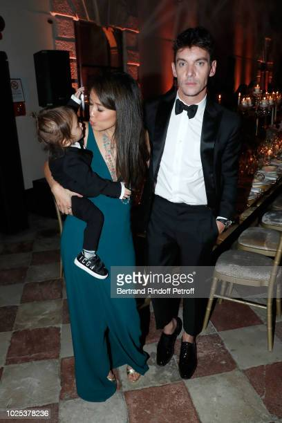 Jonathan RhysMeyers his wife Mara Lane and their son Wolf attend the Celebrazione Party By Chopard and Generali To Honor The 75th Venice Film...