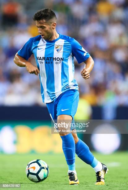 Jonathan Rodriguez of Malaga CF in action during the La Liga match between Malaga and Eibar at Estadio La Rosaleda on August 21 2017 in Malaga