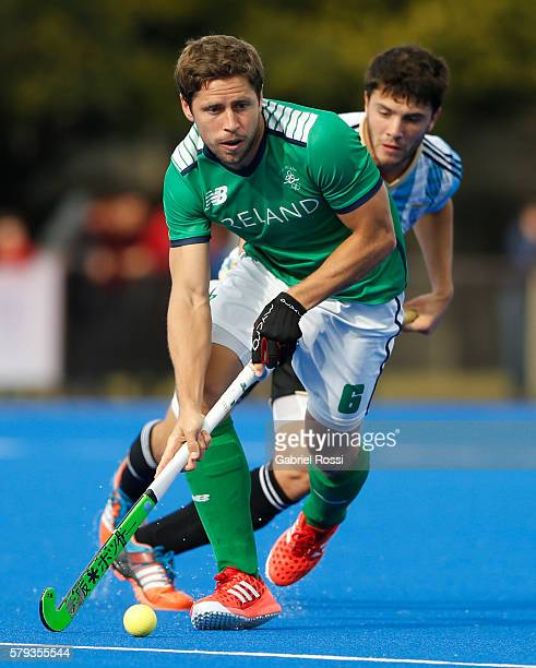 Jonathan Roman of Ireland drives the ball during an International Friendly match between Argentina and Ireland at CenARD on July 23 2016 in Buenos...