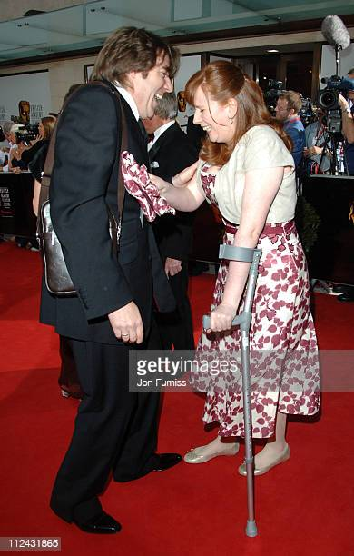 Jonathan Ross and Catherine Tate during The 2006 British Academy Television Awards Arrivals at Grosvenor House in London Great Britain