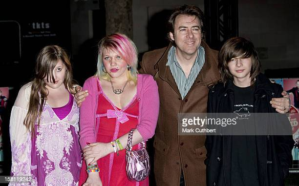 Jonathan Ross And Children Honey Kinny Betty Kitten And Harvey Kirby Arriving For The Premiere Of The Boat That Rocked At The Odeon Leicester Square...