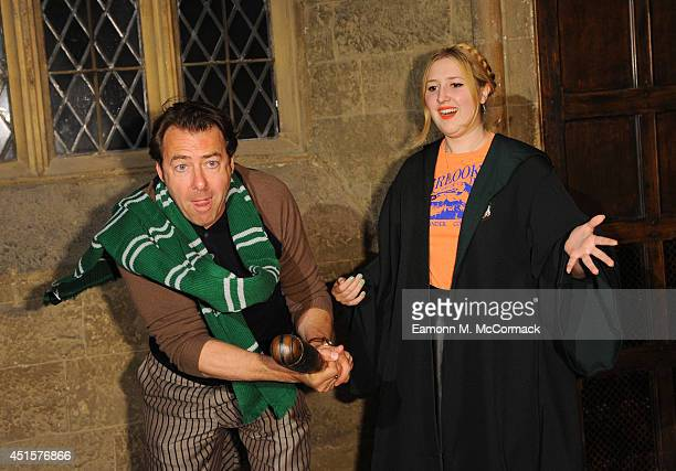 Jonathan Ross and Daughter attend a VIP screening of Harry Potter And The Philosopher's Stone at Leavesden Studios on July 1 2014 in Watford England