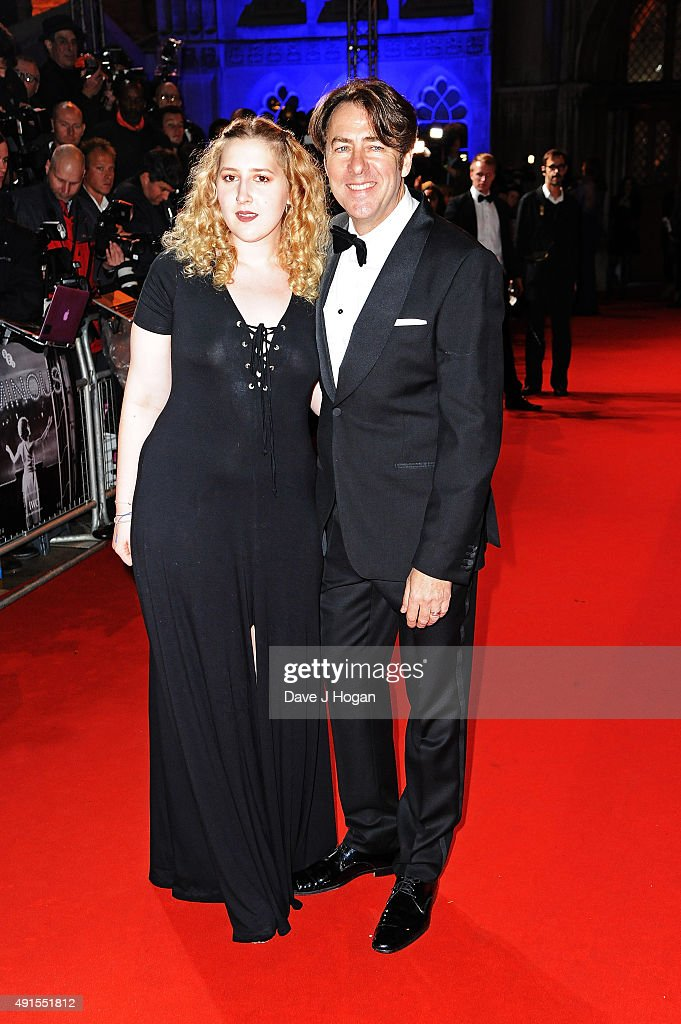 Jonathan Ross (L) and daughter Honey attend the BFI Luminous Funraising Gala at The Guildhall on October 6, 2015 in London, England.