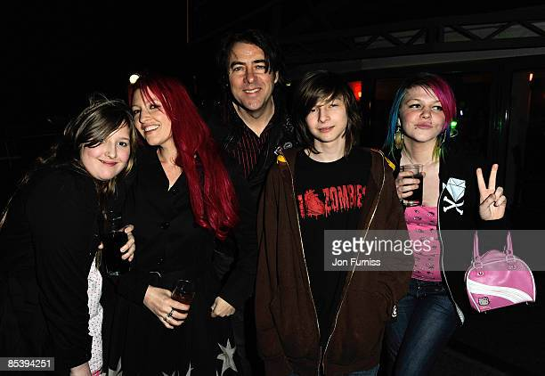 LONDON MARCH 11 Jonathan Ross and Family daughter Honey Kinny wife Jane Goldman son Harvey Kirby and daughter Betty Kitten attends the opening of the...