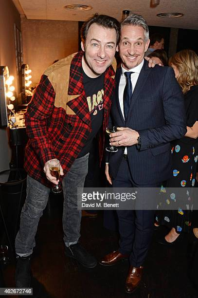 Jonathan Ross and Gary Lineker attend the InStyle and EE Rising Star Party in association with Lancome Karen Millen and Sky Living at The Ace Hotel...