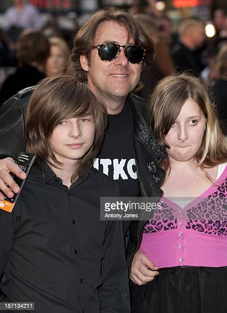 Jonathan Ross And His Children Harvey Kirby And Honey Kinny Arrive For The Uk Film Premiere Of Star Trek At The Empire Leicester Square London
