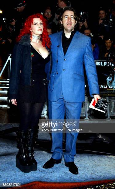 Jonathan Ross and his wife Jane Goldman arriving at the Empire Cinema in London's Leicester Square for the premiere of Ali G InDaHouse