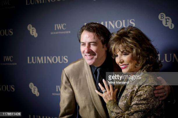 Jonathan Ross and Joan Collins attends the BFI Luminous Fundraising Gala at The Roundhouse on October 01 2019 in London England