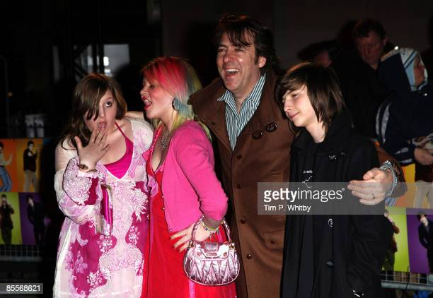 Jonathan Ross and kids Honey Kinny Betty Kitten and Harvey Kirby arrives at the World Premiere of 'The Boat That Rocked' held at The Odeon Leicester...