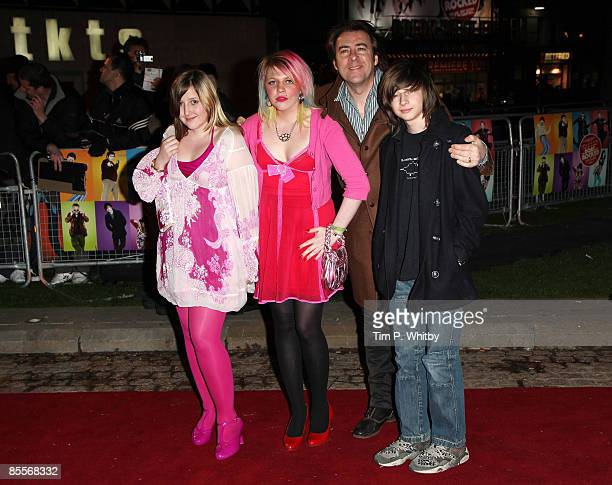 Jonathan Ross and kids Honey Kinny Betty Kitten and Harvey Kirby attends the Martini World Premiere Party held at the Louise Blouin Foundation on...