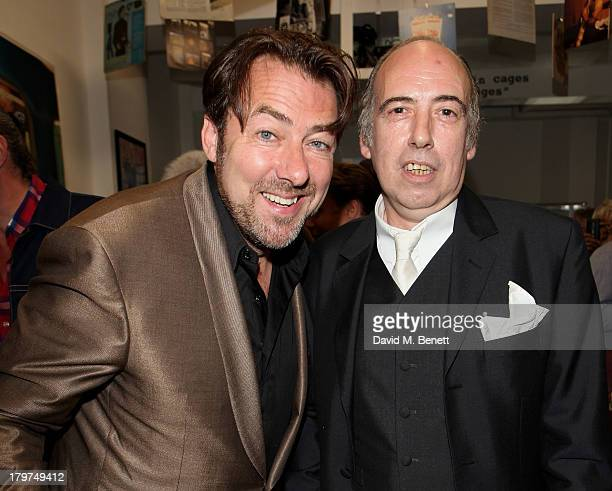 Jonathan Ross and Mick Jones attend the launch of 'Black Market Clash' an exhibition of personal memorabilia and items curated by original members of...