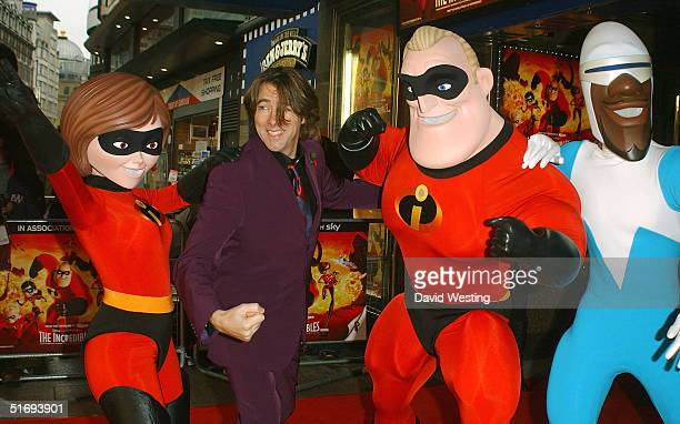 Jonathan Ross arrives at the UK Premiere of the new Disney/Pixar animation 'The Incredibles' at the Empire Leicester Square on November 7 2004 in...