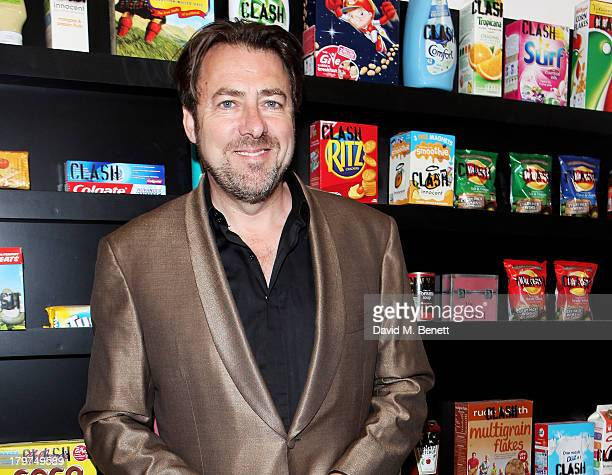 Jonathan Ross attends the launch of 'Black Market Clash' an exhibition of personal memorabilia and items curated by original members of The Clash at...