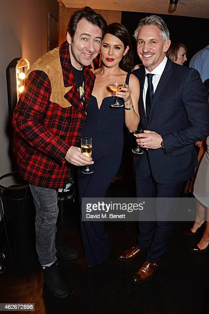 Jonathan Ross Danielle Lineker and Gary Lineker attend the InStyle and EE Rising Star Party in association with Lancome Karen Millen and Sky Living...