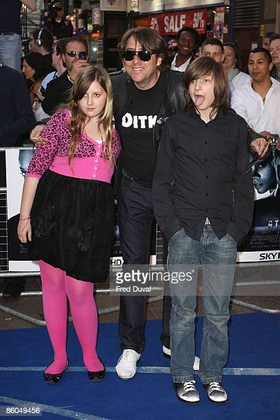Jonathan Ross daughter Honey and son Harvey attend the UK premiere of 'Star Trek' at Empire Leicester Square on April 20 2009 in London England