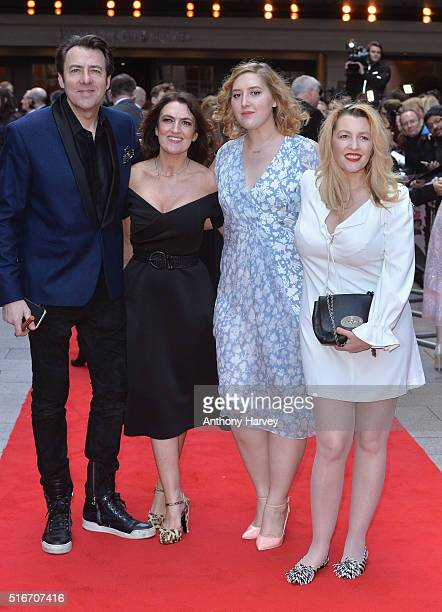 Jonathan Ross, Emily Dean, Honey Kinney Ross and Jane Goldman attend the Jameson Empire Awards 2016 at The Grosvenor House Hotel on March 20, 2016 in...