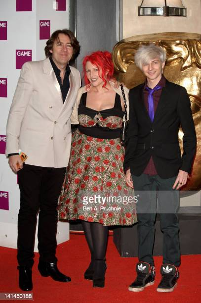 Jonathan Ross Jane Goldman and Harvey Kirby attend the 2012 Game British Academy Video Games Awards at London Hilton on March 16 2012 in London...