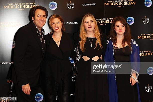 "Jonathan Ross, Jane Goldman, Honey Ross and Guest attend an after party following the World Premiere of ""The Hunger Games: Mockingjay Part 1"" at..."
