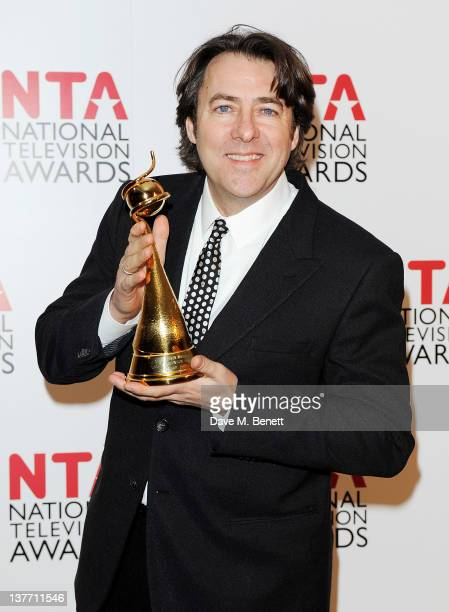 Jonathan Ross poses wiith his Special Recognition Award at the National Television Awards 2012 held at the O2 Arena on January 25 2012 in London...