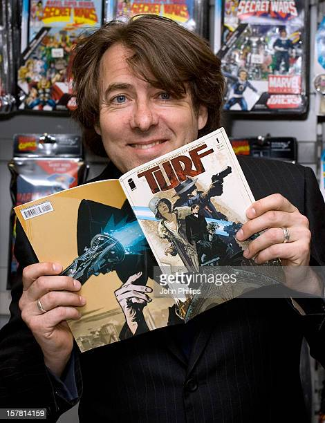 Jonathan Ross Signs Copies Of Turf At Forbidden Planet Megastore On Shaftesbury Avenue In London