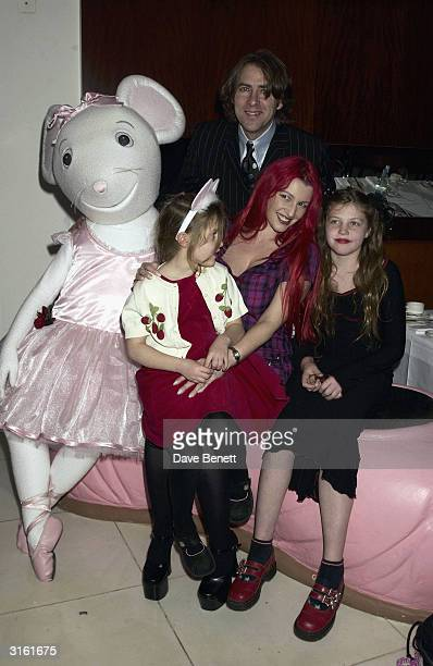 Jonathan Ross with his wife Jane Gold and their daughters at the Angelina Ballerina Nutcracker gala preparty on December 3rd 2002 at the St Martins...