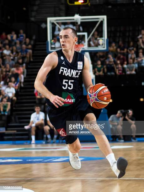 Jonathan Rousselle from France in action during the FIBA Basketball Wolrd cup 2019 qualifier match between France and Finland at the Sud de France...