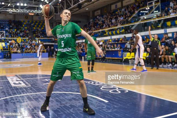 Jonathan Rousselle of Limoges reacts during the Jeep Elite match between Levallois Metropolitans and CSP Limoges at Salle Marcel Cerdan on November...