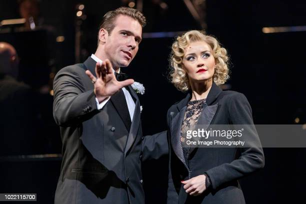 Jonathan Roxmouth plays Billy Flynn left and Carmen Pretorius plays Roxie Hart during a media opportunity for the opening of the Chicago Musical at...