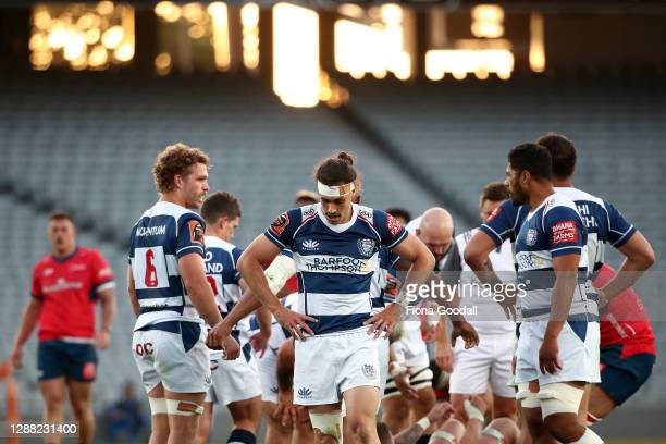 Jonathan Ruru of Auckland during the Mitre 10 Cup Final between Auckland and Tasman at Eden Park on November 28, 2020 in Auckland, New Zealand.