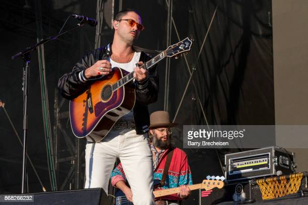 Jonathan Russell and Chris Zasche of The Head and the Heart perform during Voodoo Music Arts Experience at City Park on October 29 2017 in New...