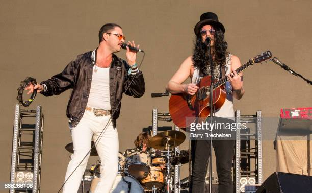 Jonathan Russell and Matt Gervais of The Head and the Heart perform during Voodoo Music Arts Experience at City Park on October 29 2017 in New...