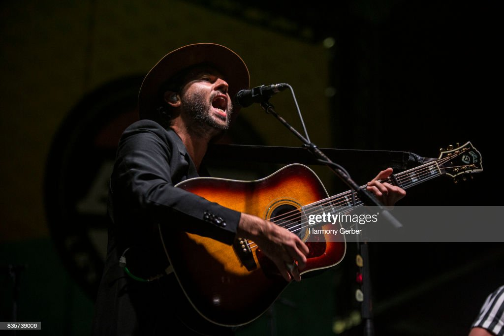 Jonathan Russell of The Head and the Heart performs at Alt 98.7 Summer Camp at Queen Mary Events Park on August 19, 2017 in Long Beach, California.