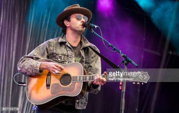 Jonathan Russell of The Head and the Heart performs at Grant Park on August 5 2017 in Chicago Illinois