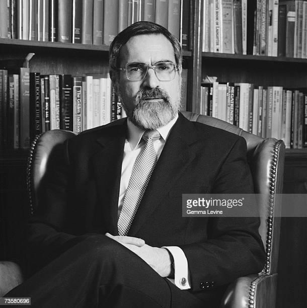 Jonathan Sacks, Chief Rabbi of Great Britain and the Commonwealth, circa 1995.